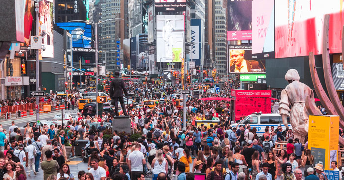 crowded times square nyc