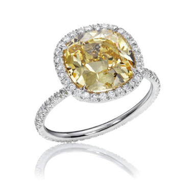 """The One"" Yellow Diamond Micropave Ring"