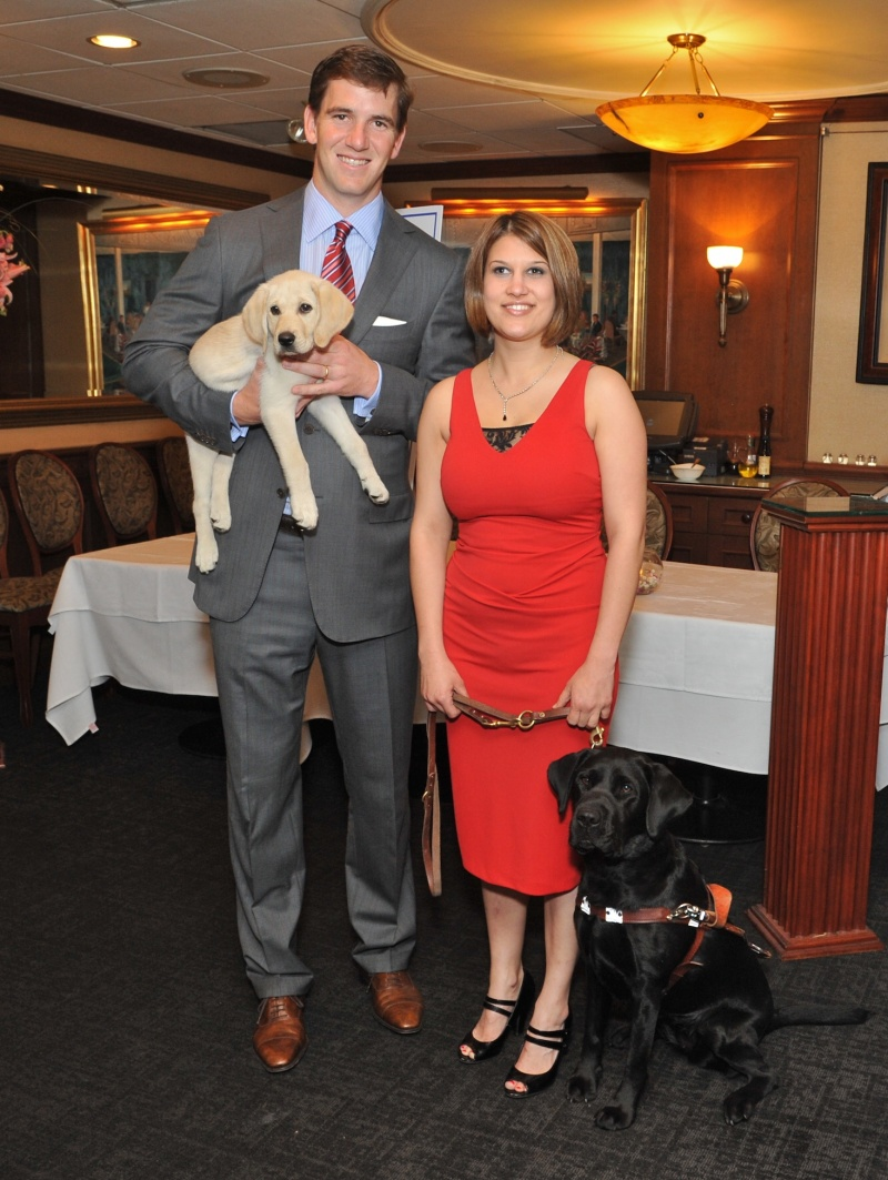 Eli Manning and Kate at Guiding Eyes for the Blind