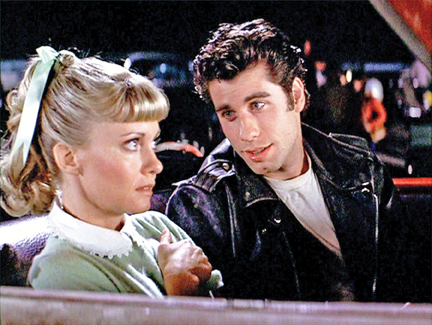 grease movie, sandy and danny