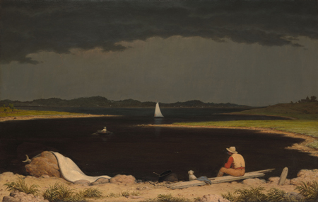 Martin Johnson Heade's Approaching Thunder Storm, 1859