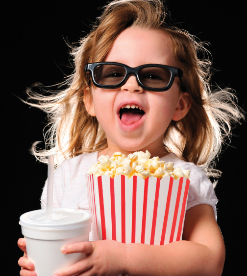 child at the movies