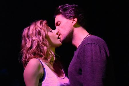 Caissie Levy and Will Swenson in Murder Ballad. Photo credit: Joan Marcus