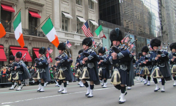 st patricks day parade bagpipes nyc