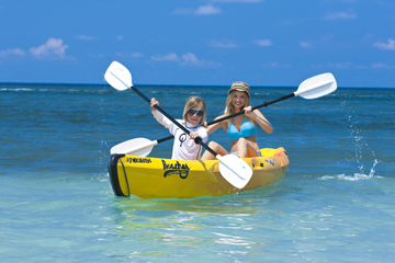 kayaking at beaches ocho rios