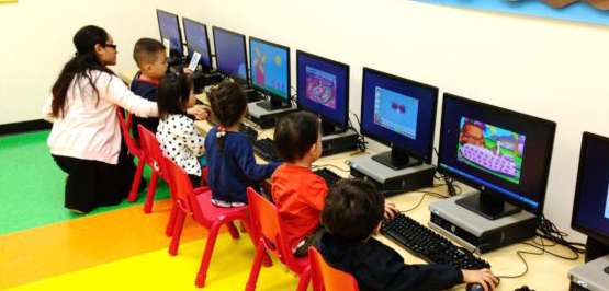 The computer room at Ivy Day School