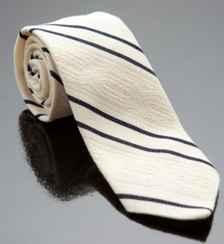 Billy Reid ivory/navy tie