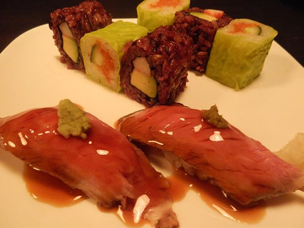 A prepared dish at Ninja New York.
