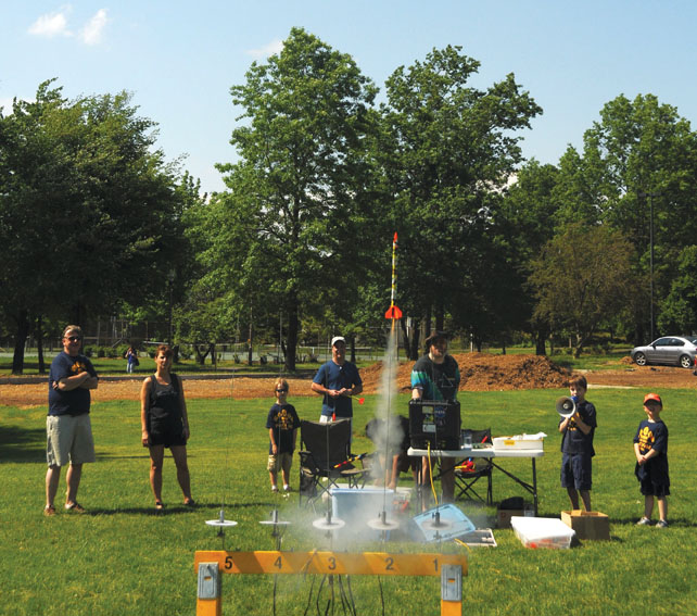 model rocket launch