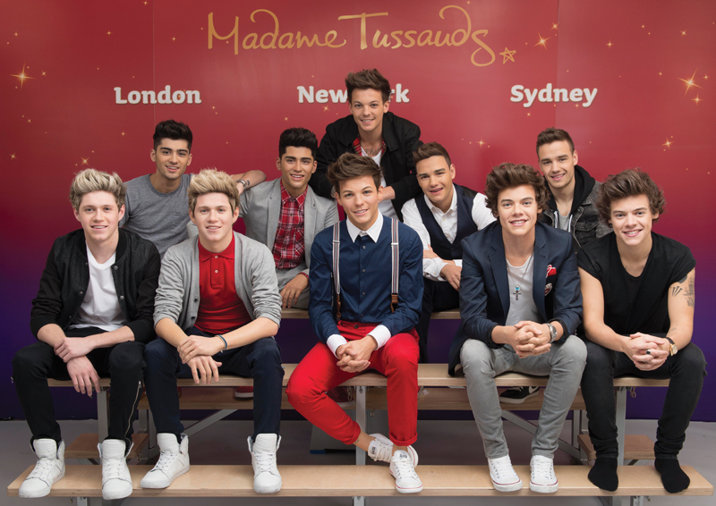 one direction wax figures at madame tussauds