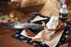 pirate party place setting