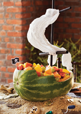 watermelon pirate ship fruit bowl