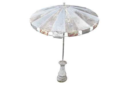 Antique canvas umbrella