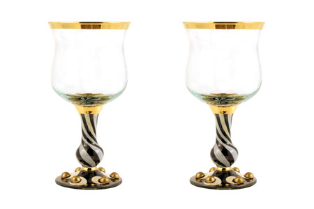 Tango Wine Glass from MacKenzie-Childs
