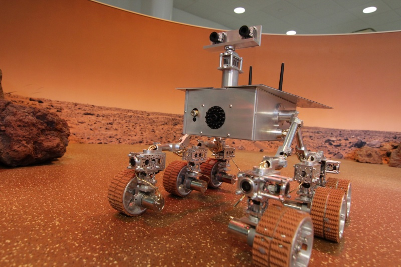 NYSCI Mars Rover in Mars exhibit