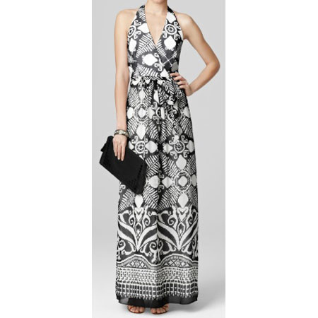 Milly abstract-print halter dress