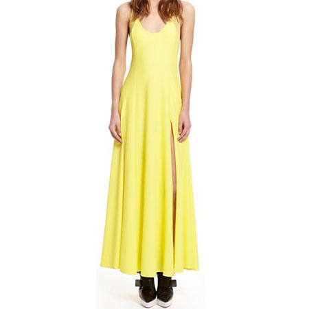 DKNY lemon-yellow racerback maxi