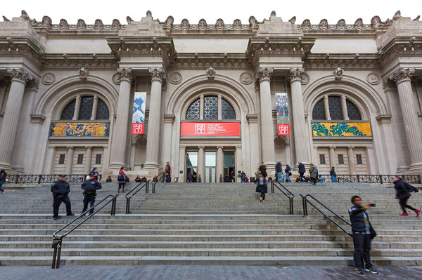 An exterior view of the Metropolitan Museum of Art.