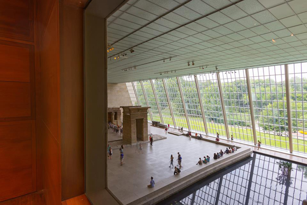 An interior view of the Metropolitan Museum of Art.