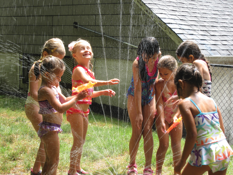 sprinkler fun in summer