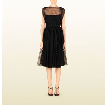 Gucci Black Tulle Cocktail
