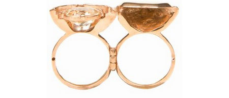 Husam El Odeh rose-gold ring with hinged band