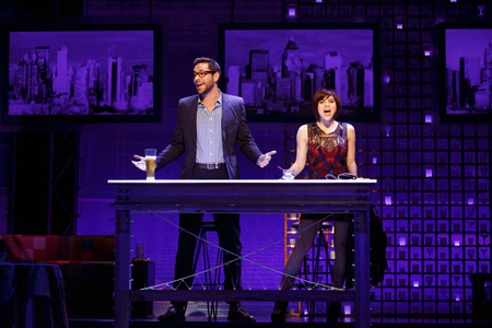 Zachary Levi and Krysta Rodriguez in First Date