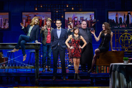 The cast of First Date on Broadway