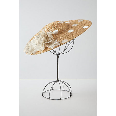 Anthropologie Dotted Disk Sun Hat