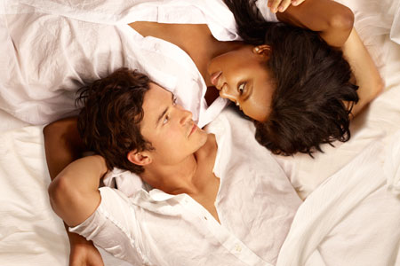Orlando Bloom and Condola Rashad in Romeo and Juliet on Broadway