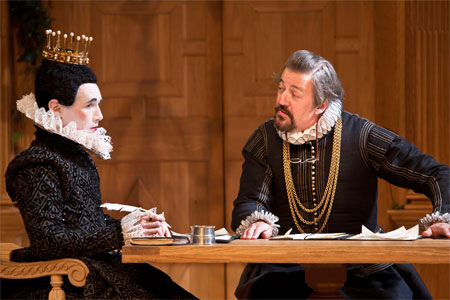 Mark Rylance and Stephen Fry in Twelfth Night on Broadway