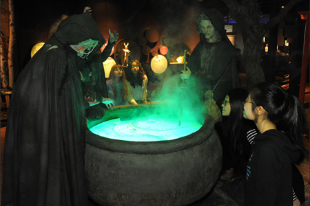 Witches brew from Macbeth at AMNH's Power of Poison exhibit