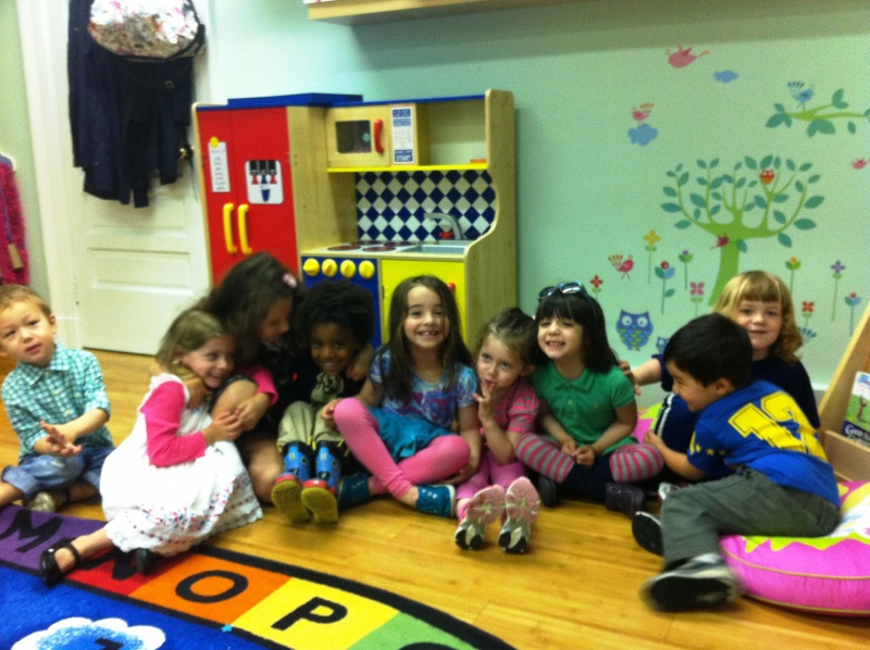 children in Rutgers Church's preschool program