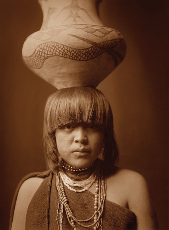 native american woman photo by edward s curtis