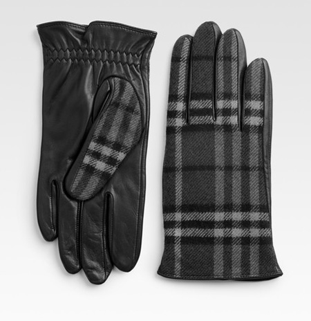 Burberry Check Wool Gloves
