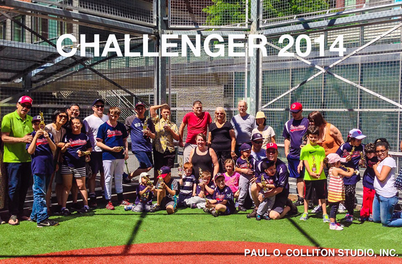 downtown challengers baseball team 2014