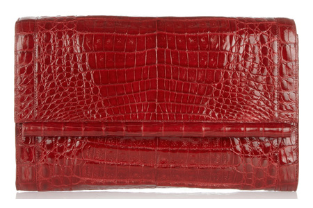 Nancy Gonzalez crocodile skin clutch