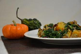 butternut squash with pumpkin seeds