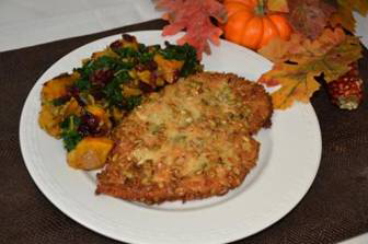 pumpkin and panko crusted chicken