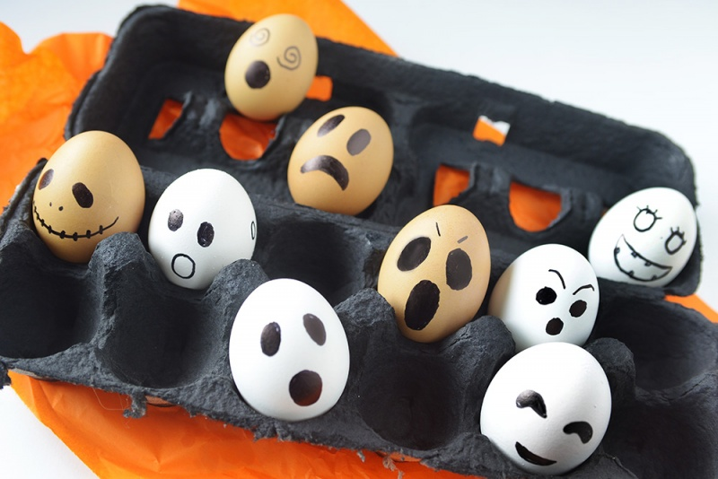 hard boiled egg ghosts