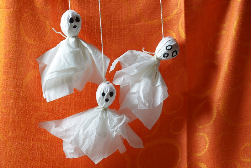tissue paper ghosts