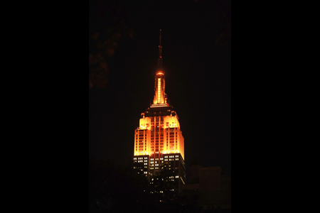 The Empire State Building on Halloween