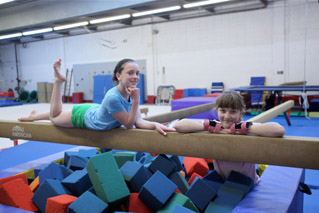 girls on balance beam