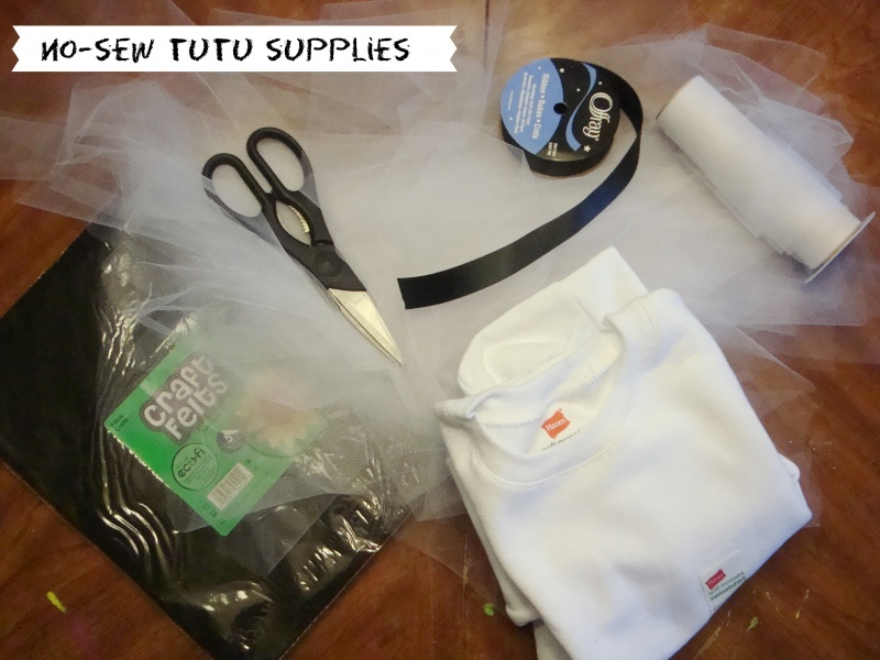 no-sew tutu supplies