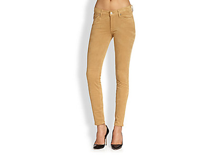 7 For All Mankind Sueded Skinny Jeans