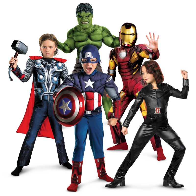 Avengers Halloween costume group