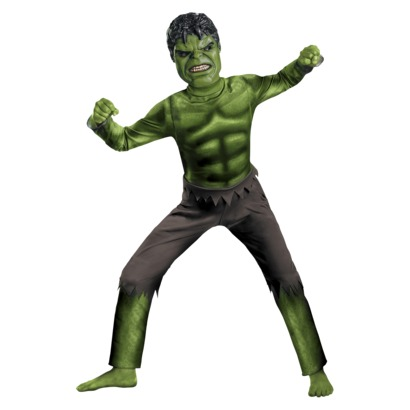 Child dressed as Marvel's Incredible Hulk