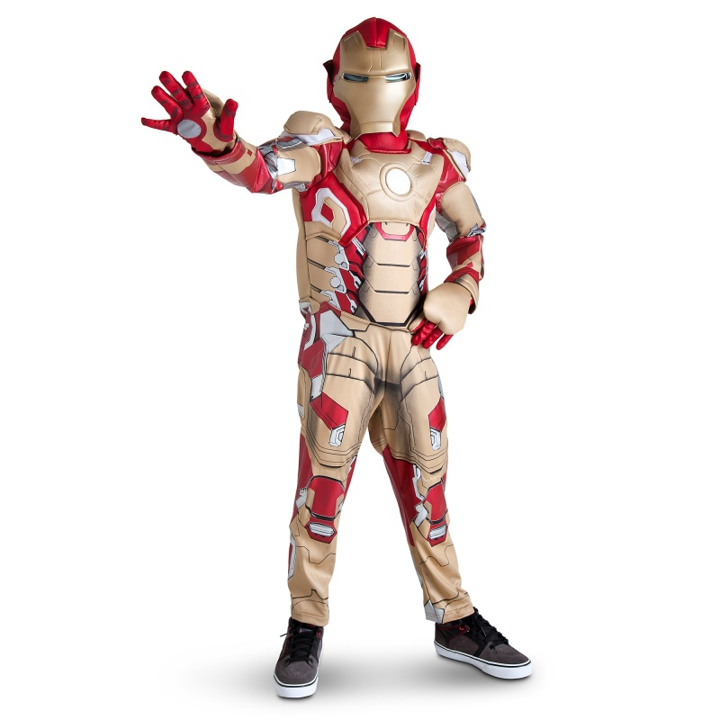 Child dressed in Iron Man 3 Halloween costume