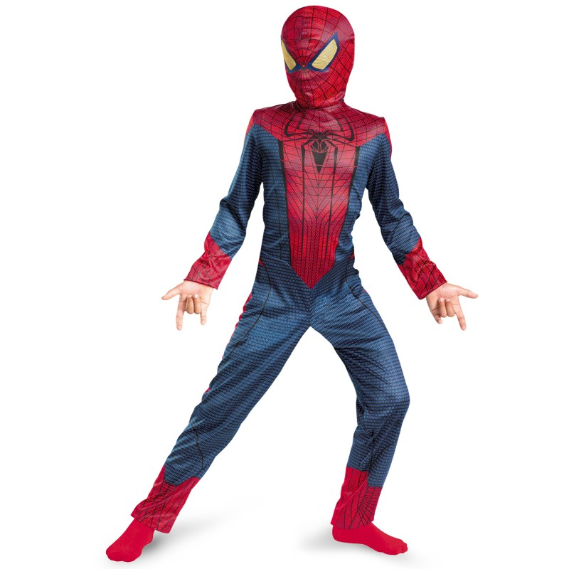 child wearing spider man costume