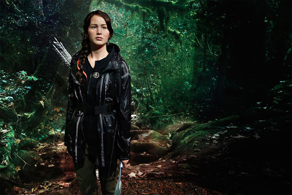 A wax figure of Katniss Everdeen at Madame Tussauds.